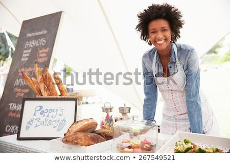 Nő piac néz kenyér mosolyog üzlet Stock fotó © monkey_business