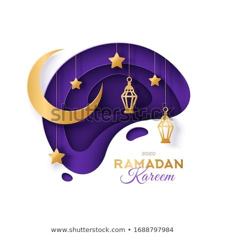 dark eid mubarak islamic sale banner Stock photo © SArts