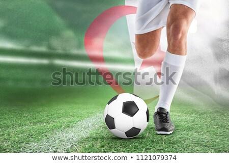 Football player against digitally generated algerian national flag Stock photo © wavebreak_media