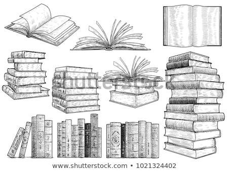 oud · boek · afbeelding · school · ontwerp · kunst · onderwijs - stockfoto © cidepix