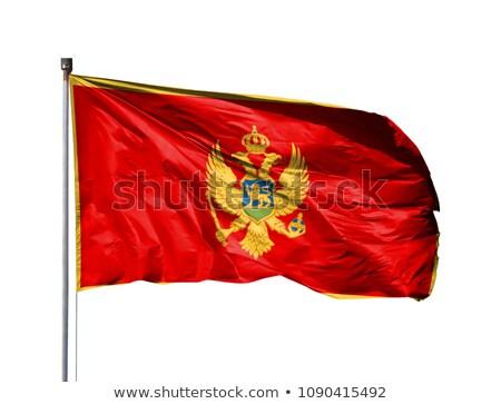 Черногория флаг изолированный белый оказывать Сток-фото © daboost