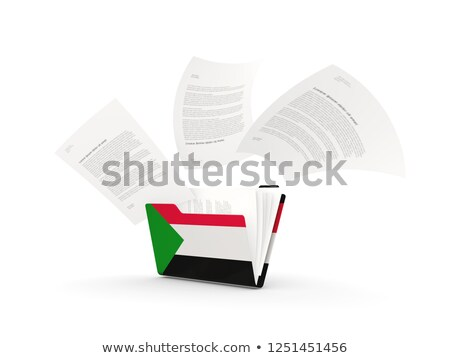 Folder with flag of sudan Stock photo © MikhailMishchenko