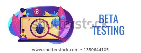 Product testen banner consumenten vergrootglas Stockfoto © RAStudio