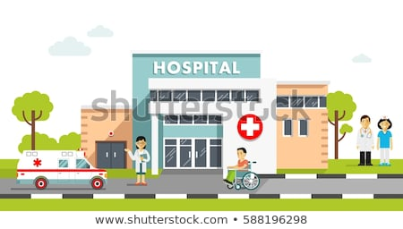 Hospital edificio plantilla vector moderna Foto stock © robuart