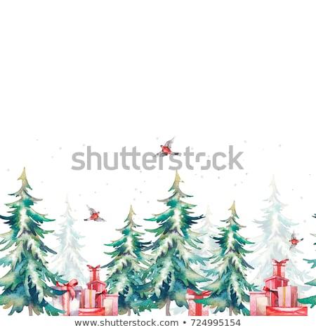 Vibrante alegre árbol de navidad banner diseno árbol Foto stock © SArts