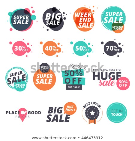 Speciaal promotie korting ingesteld posters tekst Stockfoto © robuart
