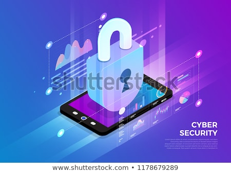 3d concept of mobile protection  Stock photo © nasirkhan
