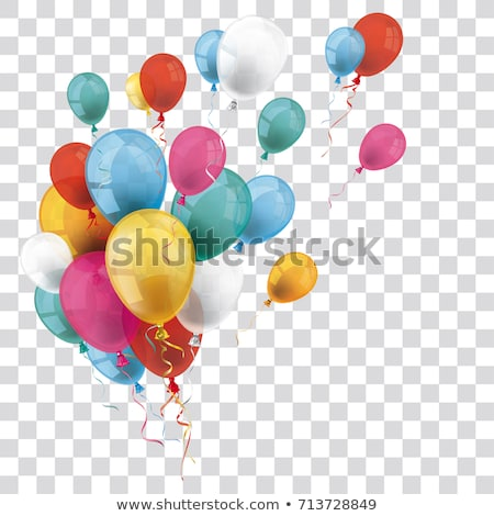 Colorful balloon flying on white background Stock photo © colematt