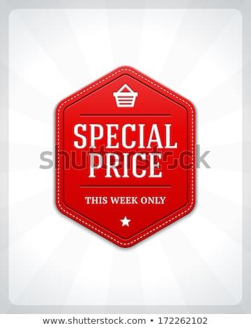 En İyi seçim yarım fiyat satış vektör Stok fotoğraf © robuart