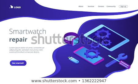 mobile device repair concept isometric 3d landing page stock photo © rastudio
