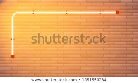 Frontera plantilla marrón ladrillos ilustración fondo Foto stock © colematt