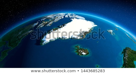 World Map of GREENLAND: Greenland, Arctic Archipelago, Atlantic Ocean. Geographic chart. Stock photo © Glasaigh