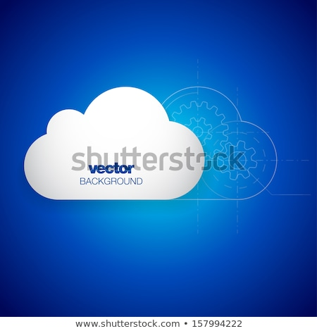 cog gears clouds with bright background Stock photo © wavebreak_media