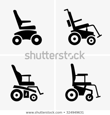 Self-Propelled Wheelchair Equipment Vector Icon Stock photo © pikepicture