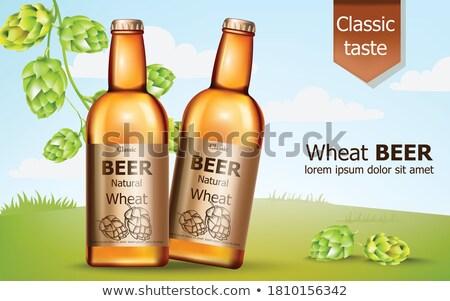 Bierfles vector realistisch omhoog product plaatsing Stockfoto © frimufilms