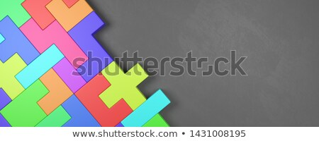 Colorful Blocks Combined on Dark Gray Background Stock photo © make