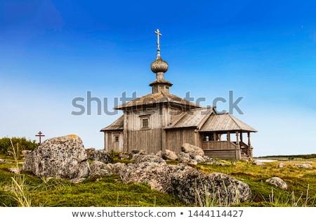Klasztor Rosja biały morza niebo Zdjęcia stock © borisb17