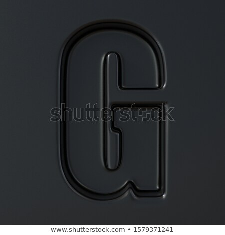 Fekete gravírozott betűtípus g betű 3D 3d render Stock fotó © djmilic