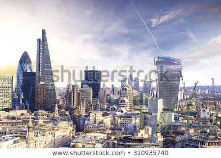 The skyscrapers of the City of London Stock photo © elxeneize