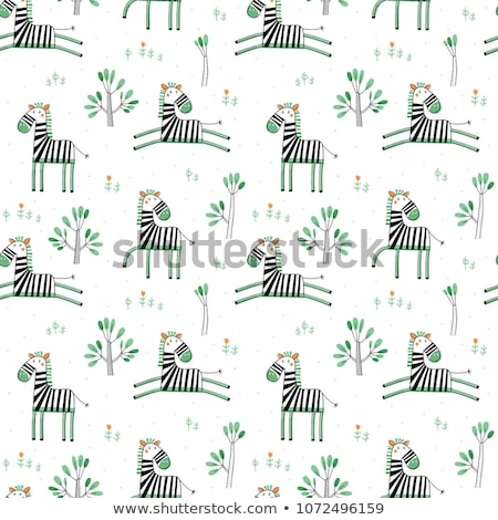 Sjabloon groene zebra patronen illustratie achtergrond Stockfoto © bluering