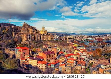 Georgië panoramisch berg stad landschap Stockfoto © borisb17