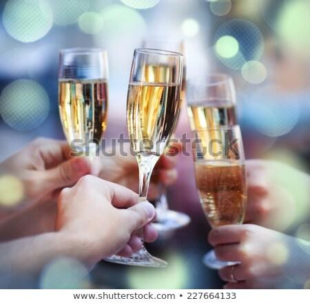 Pessoas óculos champanhe brinde Foto stock © dashapetrenko