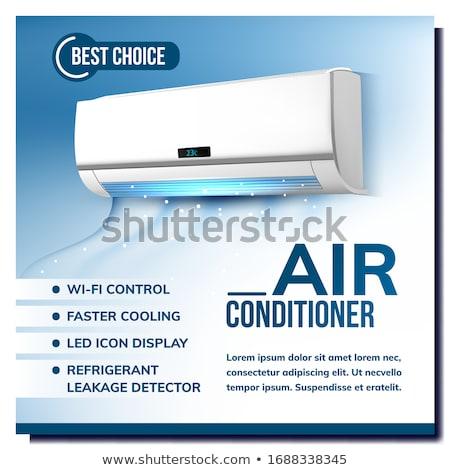 Ar condicionado publicidade cartaz vetor condicionador wi-fi Foto stock © pikepicture