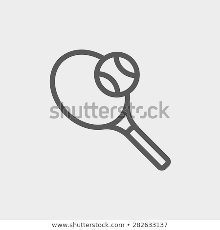 Tennis Racket Icon Vector Outline Illustration Stock photo © pikepicture