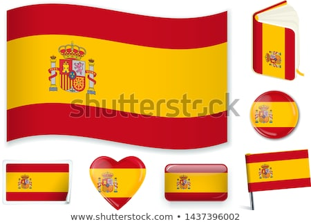 National flag of the Spain in the shape of a heart and the inscription I love Spain. Vector illustra Stock photo © butenkow