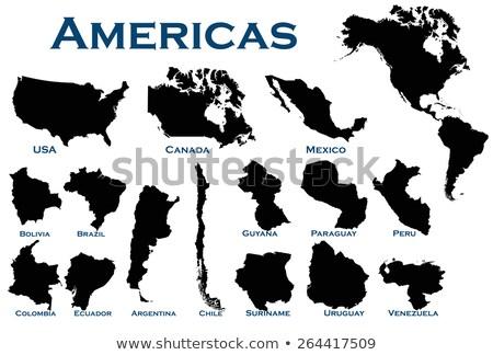 Chile país silhueta bandeira isolado branco Foto stock © evgeny89