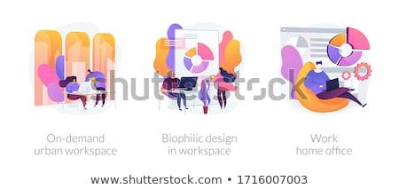 Stedelijke werkruimte abstract cliënt business Stockfoto © RAStudio