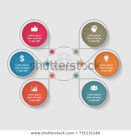 Diagramma globale rete net comunicazione icona Foto d'archivio © Hermione