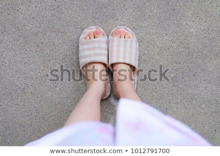 pair of pink fluffy slipper stock photo © ruslanomega