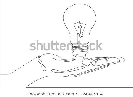 hand holding bulb Stock photo © Pakhnyushchyy