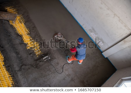 Artesão piso casa trabalhando serviço branco Foto stock © photography33