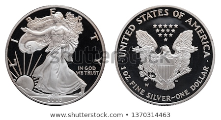 amerikaanse · zilver · adelaar · dollar · munt · zwarte - stockfoto © keko64