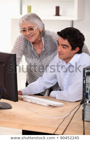 Man demonstrating a computer Stock photo © photography33