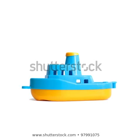 toy ship isolated on a white stock photo © shutswis