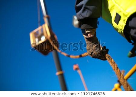 travailleur · ciseler · marteau · bois · film - photo stock © photography33