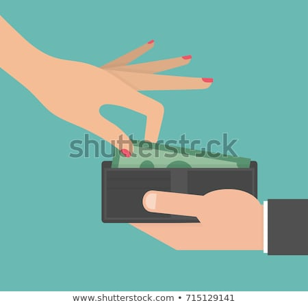 hand holding purse with dollar Stock photo © shutswis