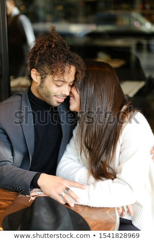 Couple sitting outside Stock photo © photography33