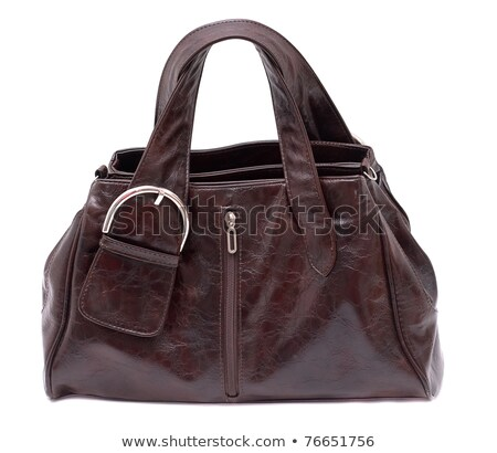 Womanish Brown Leather Bag Photo stock © Supertrooper
