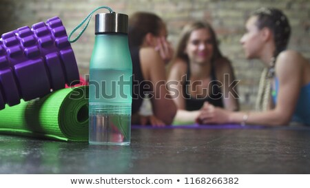 Sportswomen hydrating after effort Stock photo © photography33