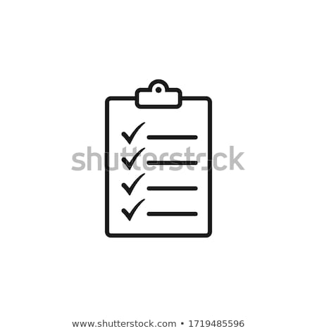 Stock photo: Checklist with pencil