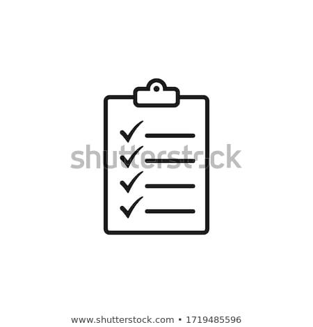 foglio · carta · pin · matita · isolato · bianco - foto d'archivio © samsem