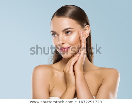 Fresh Young Woman Face - Spa Salon, Cosmetology concept Stock photo © gromovataya