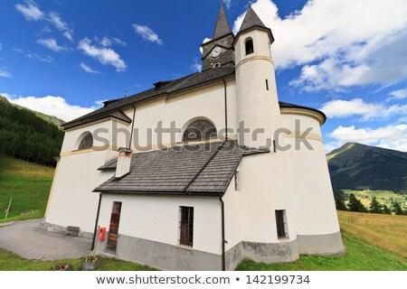 Dolomiti - small church in Laste Stock photo © Antonio-S