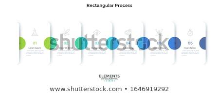 Vektör beyaz ilerleme kart katlanmış kâğıt Stok fotoğraf © vitek38