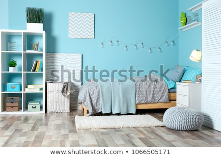 ninos · dormitorio · elegante · brillante · madera · luz - foto stock © epstock