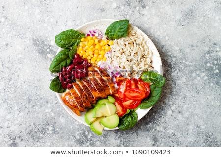 мяса · риса · овощей · обеда · Салат - Сток-фото © M-studio